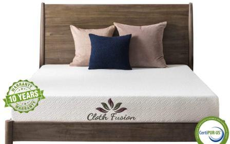 Cloth Fusion Fruton 2nd Gen 6 inch Gel Memory Foam Mattress for Single Size Bed